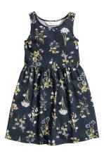 Patterned jersey dress - Dark blue/Floral - Kids | H&M 2