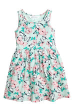 Patterned jersey dress - Mint green/Butterflies - Kids | H&M 2
