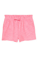 Shorts in jersey - Rosa neon mélange -  | H&M IT 2