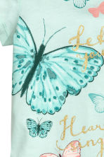 Printed top - Mint/Butterflies -  | H&M CN 3