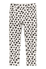 Treggings - Natural white/Heart - Kids | H&M CN 2