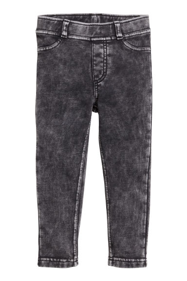Treggings - Black washed out -  | H&M 1