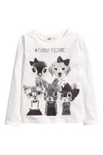 Long-sleeved top - White - Kids | H&M 1