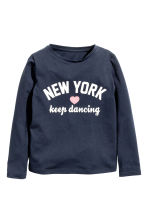 Long-sleeved top - Dark Blue/New York - Kids | H&M CN 2