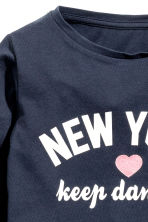 Long-sleeved top - Dark Blue/New York - Kids | H&M CN 3