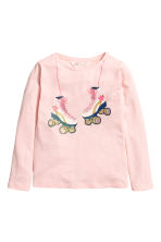 Long-sleeved top - Light pink - Kids | H&M CN 2