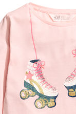 Long-sleeved top - Light pink - Kids | H&M CN 3