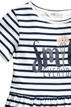 Sweatshirt dress - White/Dark blue/Striped -  | H&M 3