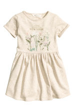 Robe en molleton - Beige clair/New York -  | H&M FR 2