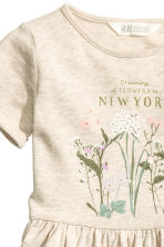 Robe en molleton - Beige clair/New York -  | H&M FR 3