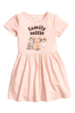 Sweatshirt dress - Light pink/Animal -  | H&M 2