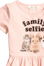 Sweatshirt dress - Light pink/Animal -  | H&M 3