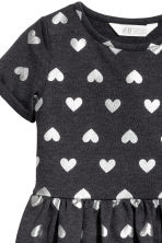 汗衫布料洋裝 - Dark grey/Hearts -  | H&M 3