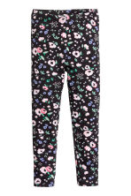 Printed leggings - Dark blue/Floral -  | H&M CN 2