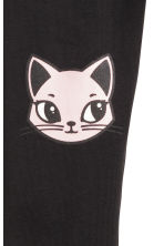 Printed leggings - Black/Cats -  | H&M 3