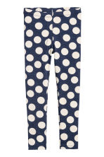 Printed leggings - Dark blue/Spotted - Kids | H&M CN 2