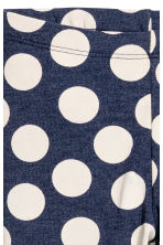 Printed leggings - Dark blue/Spotted - Kids | H&M CN 3