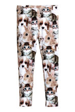 Printed leggings - White/Animal - Kids | H&M CN 2