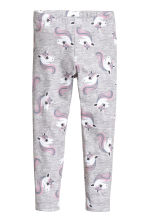 Legging avec impression - Gris/Unicorns - ENFANT | H&M FR 2