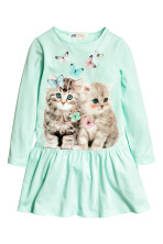 Mint green/Cat