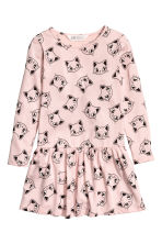 Printed jersey dress - Pink/Cats - Kids | H&M 2
