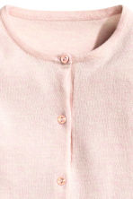 Cotton cardigan - Light pink -  | H&M 3
