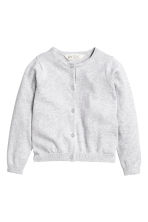 Cotton cardigan - Light grey marl -  | H&M 2