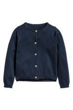 Cotton cardigan - Dark blue -  | H&M 2