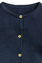 Cotton cardigan - Dark blue -  | H&M 3