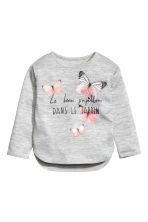 Jumper with a print motif - Grey/Butterflies -  | H&M CN 2