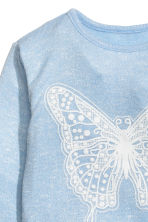 Jumper with a print motif - Light blue/Butterfly - Kids | H&M CN 3