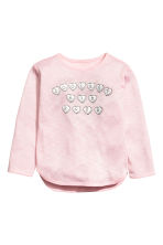 Jumper with a print motif - Light pink -  | H&M 2