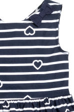Patterned cotton dress - Dark blue/Striped - Kids | H&M 3