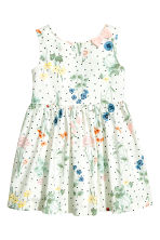 Patterned cotton dress - Natural white/Floral - Kids | H&M 2