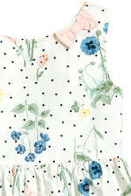 Patterned cotton dress - Natural white/Floral - Kids | H&M 3