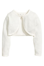 Fine-knit bolero cardigan - Natural white - Kids | H&M 2