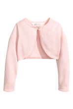 Fine-knit bolero cardigan - Light pink - Kids | H&M 2