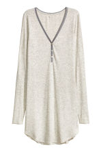 Ribbed nightdress - Grey marl - Ladies | H&M 3