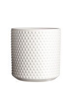 Stoneware plant pot - White - Home All | H&M CN 2