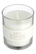 Doftljus i glasbehållare - Vit/Cotton - Home All | H&M FI 2