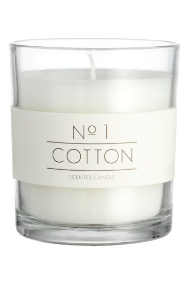 Doftljus i glasbehållare - Vit/Cotton - Home All | H&M FI 1