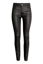 Superstretch trousers - Black/Coated - Ladies | H&M 2