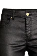 Superstretch trousers - Black/Coated - Ladies | H&M 4