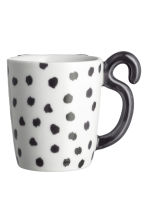 Tazza in porcellana con pois - Bianco/nero - HOME | H&M IT 1