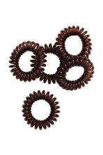 5-pack hair elastics - Dark brown - Ladies | H&M CN 1