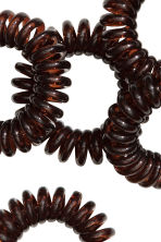 5-pack hair elastics - Dark brown - Ladies | H&M CN 2