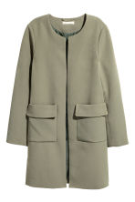 Short coat - Khaki green - Ladies | H&M 2