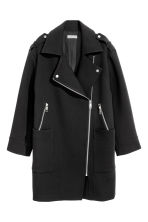 Biker coat - Black -  | H&M 2