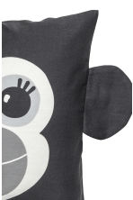 Cushion cover with ears - Anthracite grey/Ape - Home All | H&M CN 3