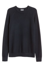 Premium cotton jumper - Dark blue - Men | H&M 2